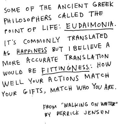 eudaimonia commentaar