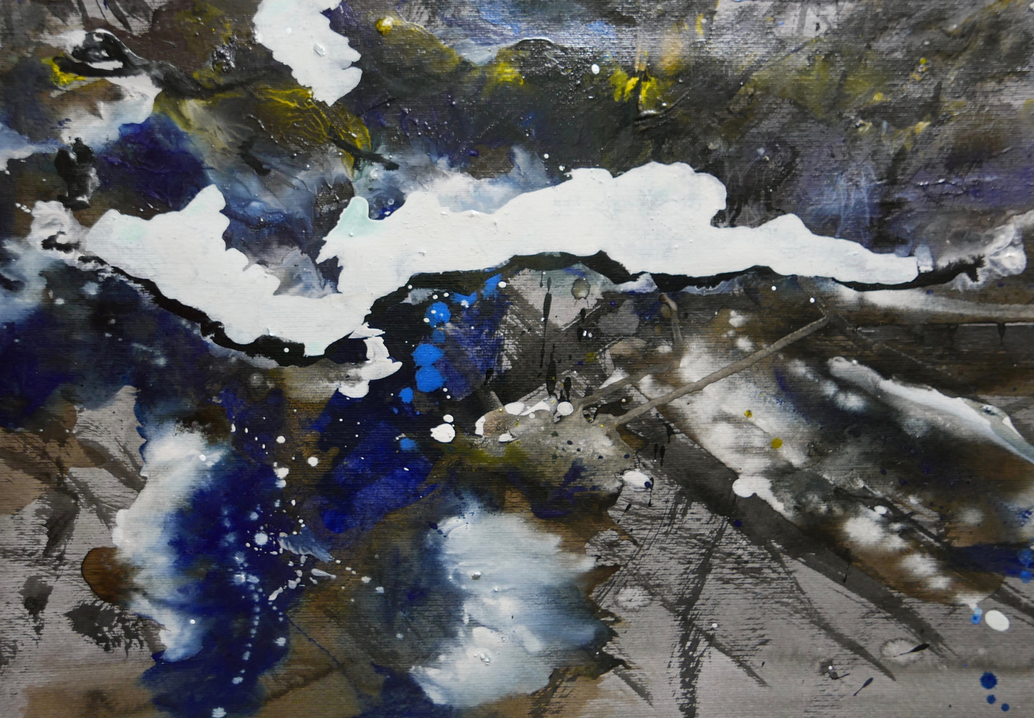 black mountain - abstract landscape